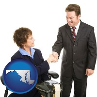 maryland a court reporter shaking hands with an attorney